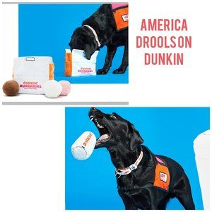 Bark & Dunkin Coffee Cup Munchkins Box Dog Toy Set